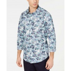 Tasso Elba Men's Floral Graphic Shirt (Blue, 14-14 1/2/S)