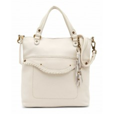 The Sak Robertson Leather Convertible Hobo Handbag Stone/Aqua