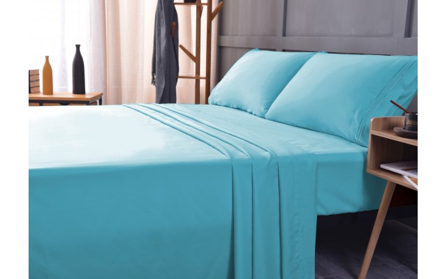 the Season Essentials Wrinkle Free Sheet Sets with Deep Pockets & Stain Resistant, 1800 Thread Count Bamboo Based