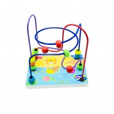 The Season Toys Educational Games Coil Spring Circles The Bead Colorful Roller Coaster Game for Babies, Toddlers, Kindergarten & Pre-K