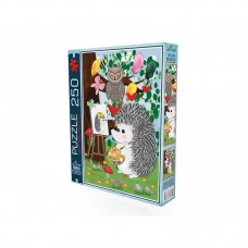 The Season Toys Painter Hedgehog Jigsaw Puzzle 250 Pieces, Puzzle for Kids and Adults, Preschool and Pre-K Homeschooling