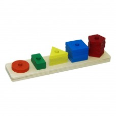 The Season Toys Wooden Geometric Shapes for Cognitive Development and Homeschooling of Toddlers and Children, Natural Wooden Toys, Non-toxic Materials