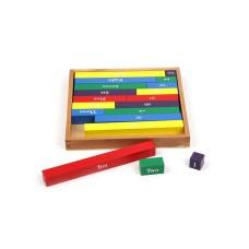 The Season Wooden Numeric Montessori Math Sticks Educational Game Set, Cognitive Development Aid for Homeschooling and Kindergarten, Pre-K and Preschoolers