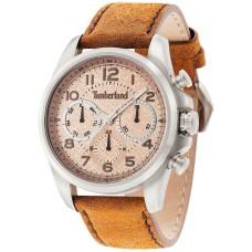 Timberland Men's Smithfield Brown Leather Strap Watch 46x57mm TBL14769JS07