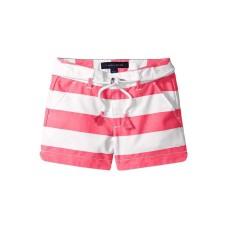 Tommy Hilfiger Big Girls Belted Rugby Stripe Shorts