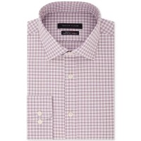 Tommy Hilfiger Men's Fitted TH Flex Performance Stretch Moisture-Wicking Check Dress Shirt