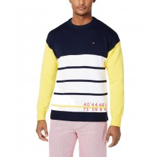 Tommy Hilfiger Men's Multi Colored Saltwater Sweater Top