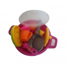 Toy Pot Set for Imaginary Kitchen Cooking and Serving GamesBaby ChefsMake Pretend Games for PreschoolersKindergarten and Pre-K Play and Learn