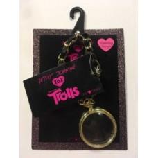 Trolls Betsey Johnson XOX Pocket Watch Charm Handbag Dangle