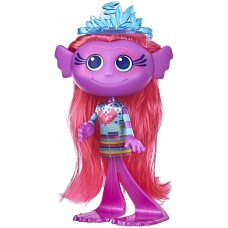 Trolls DreamWorks World Tour Stylin' Mermaid Fashion Doll with Removable Dress and Tiara Accessory, Fashion Doll Toy for Girls