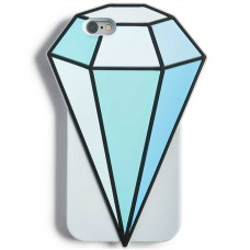 Twelve NYC Diamond Silicone Gel Phone Case For iPhone 6/6S (Blue)