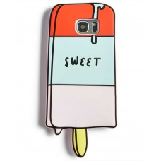 Twelve NYC Ice Cream Silicone Gel Phone Case For Samsung Galaxy S7 (Multi-Color)