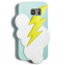 Twelve NYC Lightning Silicone Gel Case For Samsung Galaxy S7 (Light Blue)