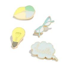 TwelveNYV Celebrate Shop 4-pc. Hustle Handbag Pin Set
