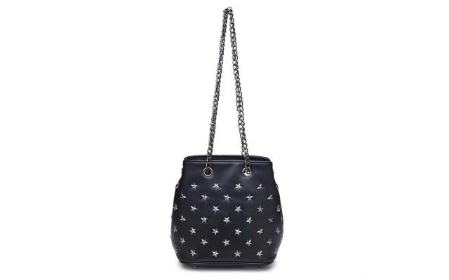 Orion Vegan Leather Crossbody – Black