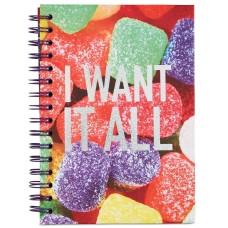 Whimsical Shop Gum Drops Spiral Notebook