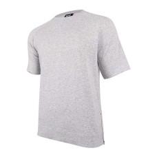 Wht Space Heather Mens Large Fleece Tee T-Shirt
