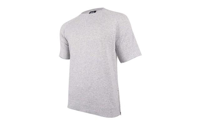 Heather Mens Large Fleece Tee T-Shirt
