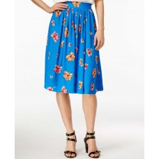 Women's CeCe by Cynthia Steffe 'Floral Delight' Print Full Skirt, Size 0 – Blue