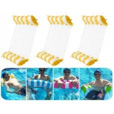 3 Pack Premium Inflatable Aqua Portable Summer Water Hammock BedChairLounger Float for Adults