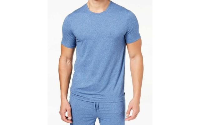 Mens Short-Sleeve Pajama Sleep T-Shirt (Royal Blue, M)