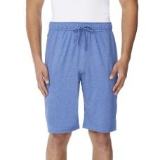32 Degress Mens Cool Knit Wicking Lounge Short (Heather Royal Blue, XL)
