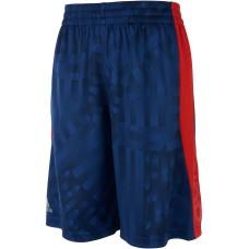 adidas Big Boys Printed Colorblocked Shorts (Blue, L)