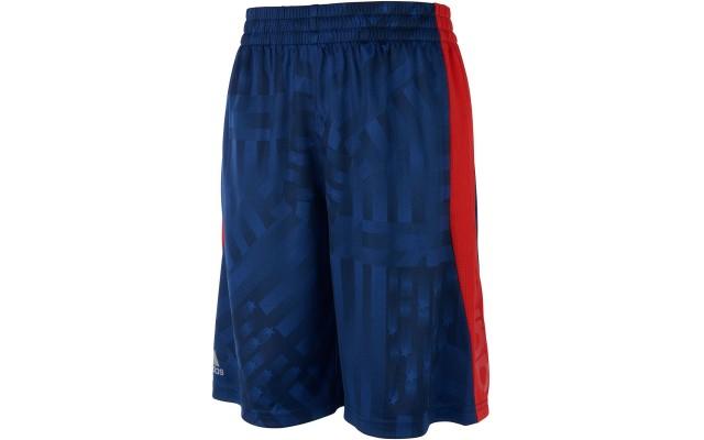 Big Boys Printed Colorblocked Shorts (Blue, L)