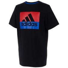 adidas Little Boys Colorblocked Logo-Print Cotton T-Shirt (Black, 5)