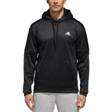 Adidas Men's Team Issue Fleece Hoodie Sweatshirts, Black, S