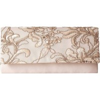 Adrianna Papell Sibel Small Clutch Oyster