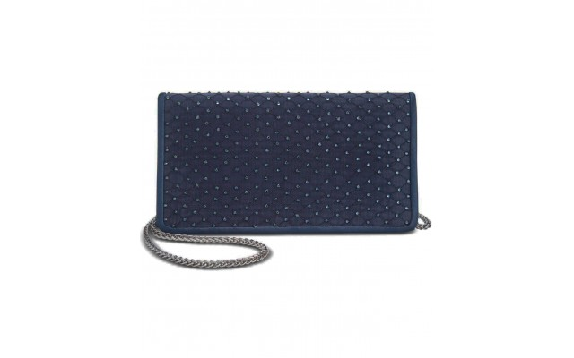 Sigrid Small Clutch Navy/Silver