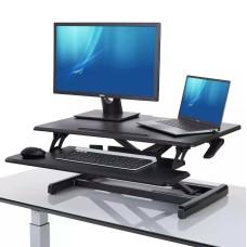AirLIFT Seville Classics Pro Pneumatic Desk Riser-for Home Office Pneumatic Desk Lift