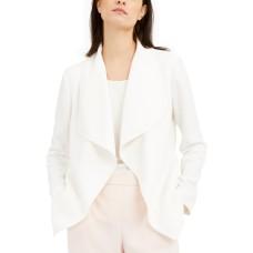 Alfani Draped Jacquard Jacket (White, Large)