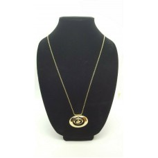 Alfani Gold-Tone Circle Pendant Necklace 32 Inch Chain