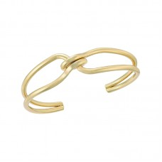 Alfani Gold-tone Intertwined Knot Cuff Bracelet (Yellow)