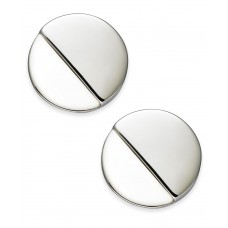 Alfani Gray Acrylic Round Button Earrings