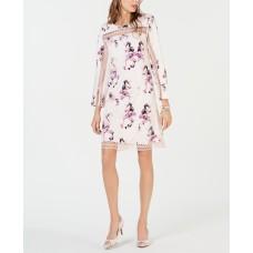 Alfani Illusion-Lace Shift Dress (Pink/18)