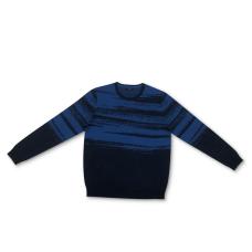 Alfani Men's Abstract Cotton Sweater (Navy, 2XL)