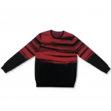 Alfani Men's Abstract Cotton Sweater (Red, XL)