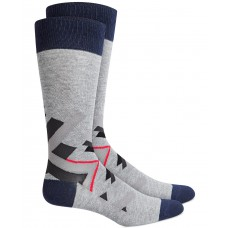 Alfani Men's Abstract Geometry Socks, Gray