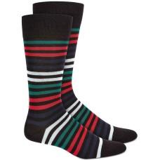 Alfani Mens Alfatech Horizontal Stripe Dress Socks