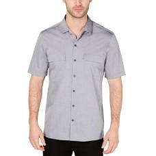 Alfani Men's Camp Collar Shirts (Gray, XL)