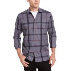 Alfani Men's Classic-Fit Brushed Plaid Shirts