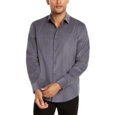 Alfani Men's Classic-Fit Corduroy Shirt (Gray, XXL)