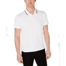 Alfani Men's Classic Fit Tipped Polo (White, XL)