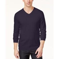 Alfani Men's Emerald Rib Trim Pullover V-Neck Sweaters