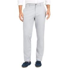 Alfani Men's Flat Front Stretch Chinos Work Pants (White,33X30)