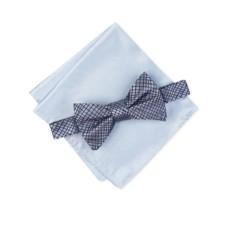 Alfani Men's Hudson Abstract Bow Tie & Pocket Square Set (Navy)