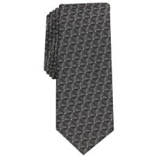 Alfani Men's Market Geometric Necktie Gray